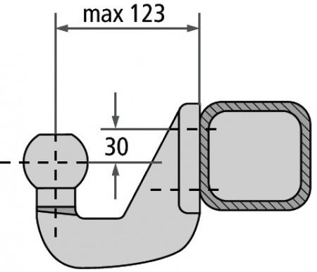 Anhängekupplungskugel K50 zur Montage